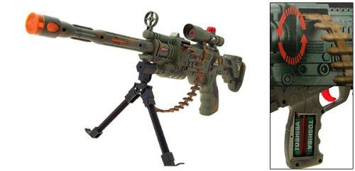 Laser Machine Gun Toy brings the war to the playground toy gun