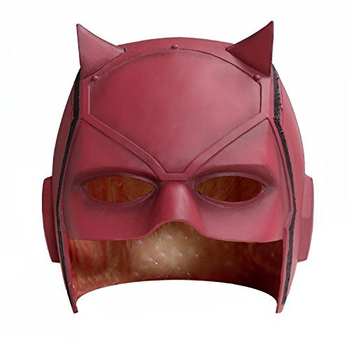 [New Dare Devil Mask Matt Murdock Cosplay Halloween Helmet Red PVC for Sale] (Devil Masks For Sale)