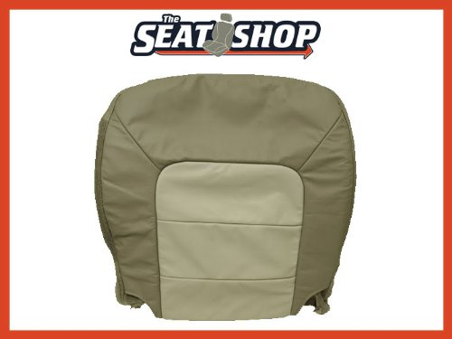 03 04 05 06 Ford Expedition Eddie Bauer 2 Tone Tan Leather Seat Cover LH bottom (06 Ford Seat Covers compare prices)