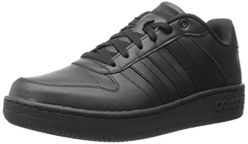 Adidas NEO Men's Team Court Fashion Sneaker, Black/Black/Black, 10 M US