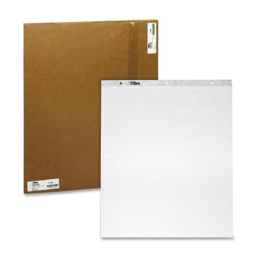 Tops Business Forms Easel Pad, Self-Stick, 30 Sheets, Plain, 25