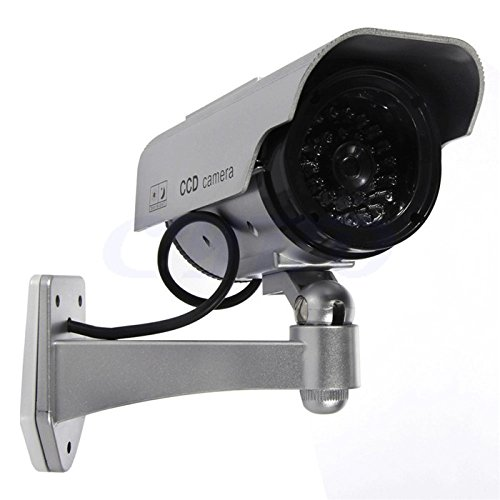 Aweek 2 pack solar powered aaa battery dummy camera fake for Motorized security camera system