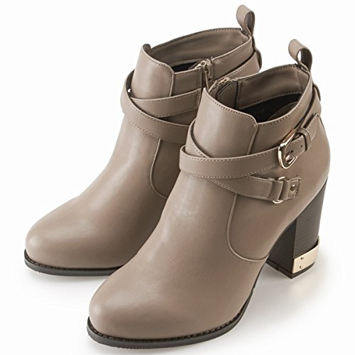 Amazon.co.jp: アプワイザー・リッシェ(Apuweiser-riche) 『and GIRL11月号掲載商品』ブーツ(ベルト付ショートブーツ)【05グレー/24.0】: 服&ファッション小物通販