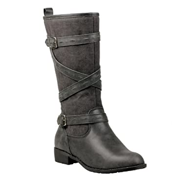 Propet Women's Derby Boot,Weathered Charcoal,6.5 B US