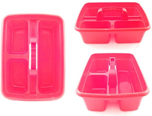 red-plastic-cleaning-caddy-cleaners-carry-all-basket-tote-tray-by-the-dustpan-and-brush-store