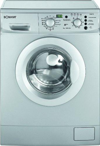 Bomann WA 5714 Waschmaschine FL / A++ / 174 kWh/Jahr / 1400 UpM / 6 kg / 9240 Liter/Jahr / 15 Programme mit Zusatzoptionen / LED-Display / silber