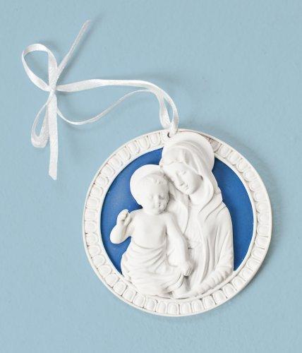 "Why Choose Roman 3"" Della Robbia Cradle Medal with Madonna & Child"