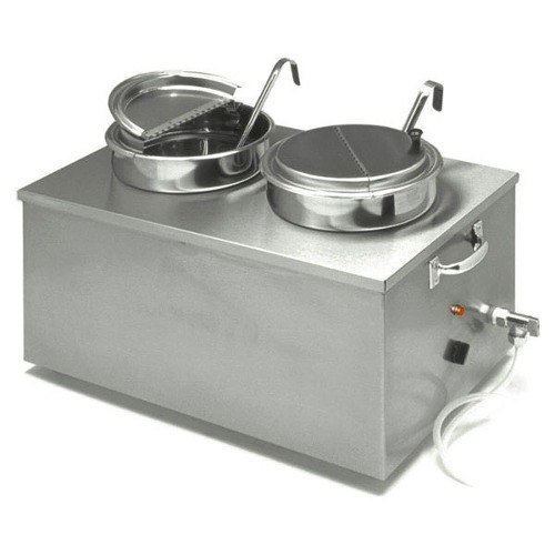 Apw Wyott Full Size Cooker Warmer With Drain, 22 Quart Capacity -- 1 Each.