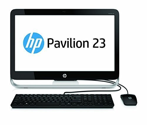 Newest HP Pavilion 23 Inch FHD All-in-One Desktop (Intel G3260 Dual-Core 2.9GHz, 4GB DDR3 RAM, 1TB HDD, Wifi, DVD, Windows 8.1 Upgradable to Win 10) (Certified Refurbished)