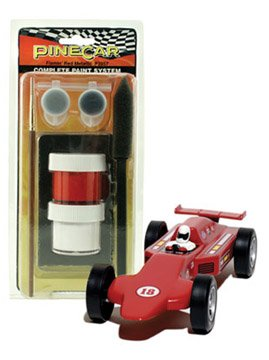 Pinecar Complete Paint System, Flamin' Red Meta PIN3957