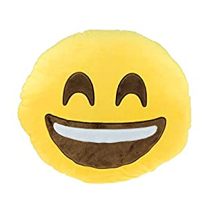 Susenstone Car Home Office Accessory Emoji Smiley Naughty Cushion Pillow Toy by susenstone