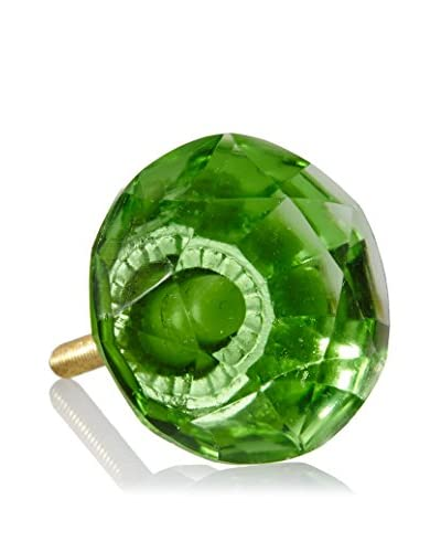 A. Sanoma Large Glass Knob, Green