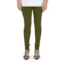 Vami Cotton Churidar Leggings in Fourleaf Color _VM1001(22)