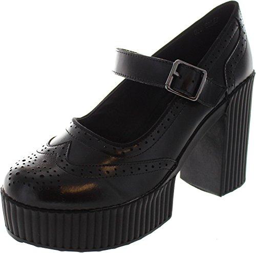 T.U.K. A9124l, Scarpe col tacco donna nero Black, nero (Black), 39
