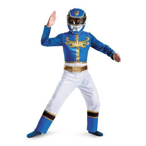 [Disguise Power Ranger Megaforce Blue Ranger Boy's Classic Costume, 7-8] (Tv Show Based Halloween Costumes)