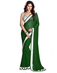 Sourbh Saree Trendy Lace Work Faux Georgette Saree (with Color Options)
