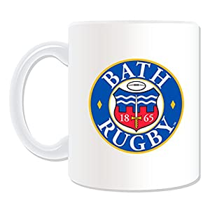 Personalised Gift - Bath Mug (Rugby Union Club Design Theme, White) - Any Name / Message on Your Unique Mug from ePorter