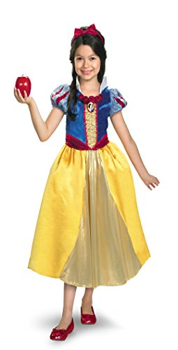 Girls Snow White Lame Deluxe Kids Child Fancy Dress Party Halloween Costume