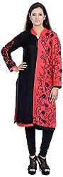 Amafhh Women's Rayon Regular Fit Kurta (amfkr7584red, Red, X-Large)