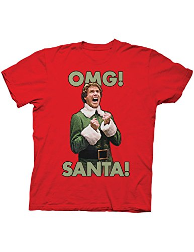 OMG Santa! Elf Movie Quote By Buddy, Will Ferrell T-Shirt Red
