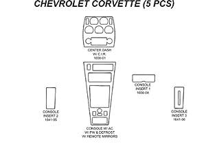 Carro Pacific Wood Dash Chevrolet Corvette 81-82 Center Console W/ Remote Mirrors, W/ & W/O Defrost (Bb Grey Black Carbon Fiber) 6Pc ...