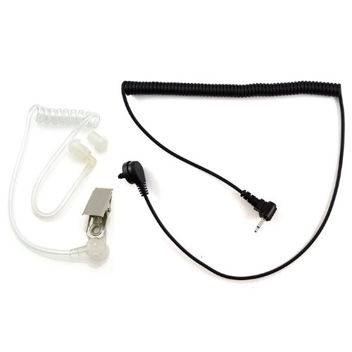 2.5Mm Plug 1 Pin Swat Style Covert Listen Only Acoustic Tube Earpiece Headset