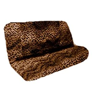 2pc tan leopard animal print bench seat cover Leopard print bench