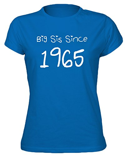 Tgf - Birthday Tees Women'S Big Sis Since Year 1965 T-Shirt Xx-Large Royal Blue