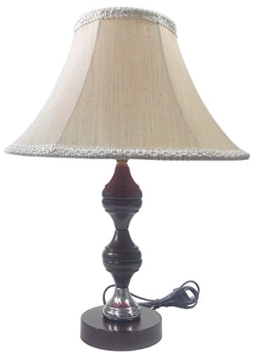 Brown Silver Stand Table Lamp with 10
