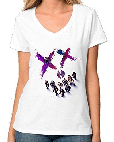Suicide Squad Characters Smile XX Fan Art V collo maglietta da donna Large
