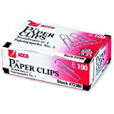 ACCO Paper Clips, Economy, Smooth, #1 Size, 100/Box, 10 Boxes (A7072380)