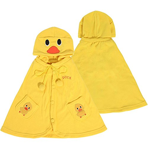 Adorable Duck Baby Clothes Cloak Baby Kids Warm Hood Cape Coat 66cm