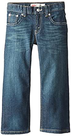 Levi's Big Boys' Slim 505 Regular Fit Jean, Cash, 8 Small