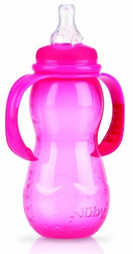 N�By 1093 Standard Polypropylene Bottle 300Ml With Handle And Drip-Free Teat / Made Of Silicone For A Variable Drinking Flow / Suitable For Age 4 Months And Older / Colour Chosen At Random By N�By