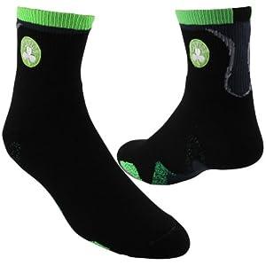 Boston Celtics Team Logo Zag Quarter Socks Mens Size Large 10-13 by NBA Store