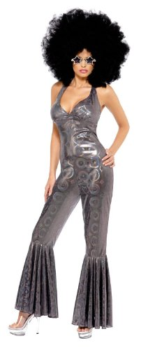 Smiffy's Women's Disco Diva Flared Jumpsuit Costume
