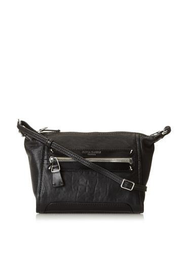 Olivia Harris Women's Hunger Small Cross-Body, Black, One Size
