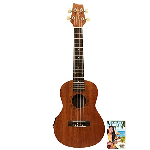 Sawtooth St-Uke-Mce-Kit-1 Solid Top Mahogany Concert Ukulele With Preamp And Quick Start Guide
