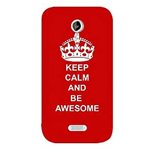 Skin4gadgets Keep Calm and BE AWESOME - Colour -Red Phone Skin for MICROMAX CANVAS LIGHT (A92)