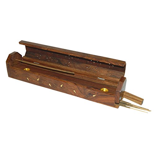 Porta inciensos zarcillo 30cm madera