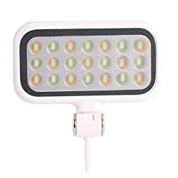 Mobilegear 2 in 1 Universal Rechargeable LED Pocket Selfie Night Light & Spotlight For Self-time Shooting With 21 LED 3.5mm Jack - White