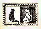 Blackwork Cats Embroidery Kit