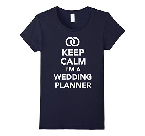 Women's Keep calm I'm a wedding planner T-Shirt Large Navy