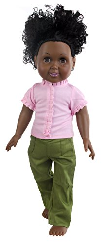 The Springfield Collection by Fibre-Craft Ruffled Top/Pants for Doll, Pink/Khaki