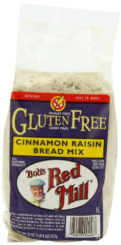 Bob's Red Mill Bread Mix Cinnamon Raisin Gluten Free, 22-ounces (Pack of4) (Cinnamon Raisin Bread Machine Mix compare prices)