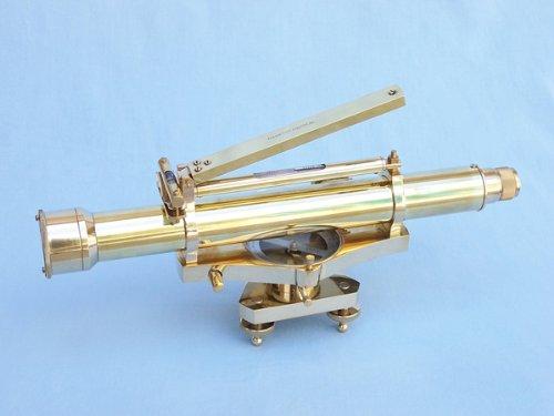 "Brass Dumpy Level Top Bubble 15"" - Brass Telescopes - Model Ship Wood Replica - Not A Model Kit"