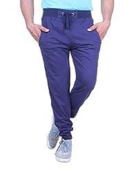 Thread Swag Men's Cotton Slim Fit Track Pants (TS09-XL_Navy blue)