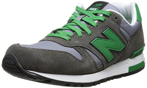 New Balance NBML565SRC Sneaker, Suede/Ripstop Grey/Green, 42