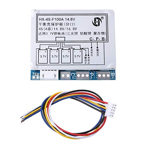 TX-CONSUMER 4S 100A 14.8V Li-ion Lithium 18650 Battery BMS PCM Protection Board with Balance
