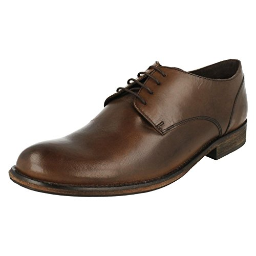 Base London, Scarpe stringate uomo, (Waxy Brown), 9 UK
